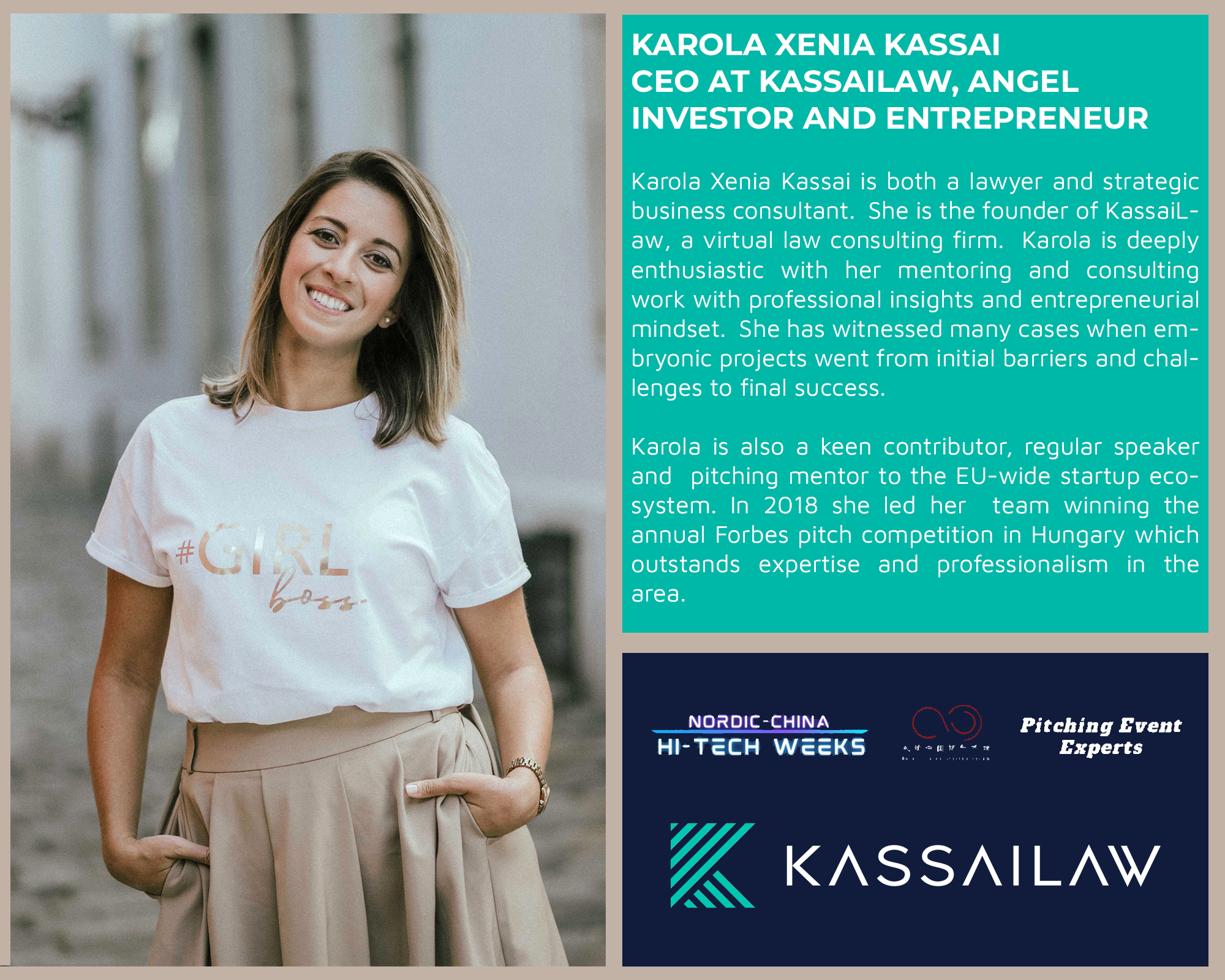 Karola is an expert at the Stockholm HTW Pitching Event by Nordic-China Startup Forum